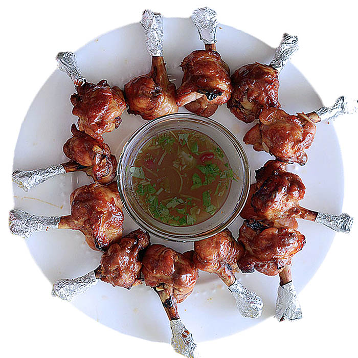 Baked Chicken Lollies and Dip