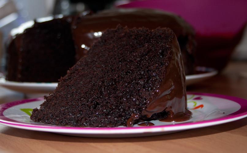 Moist Chocolate Cake Slice