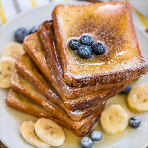 Pain Perdu - With Banana and Blueberries