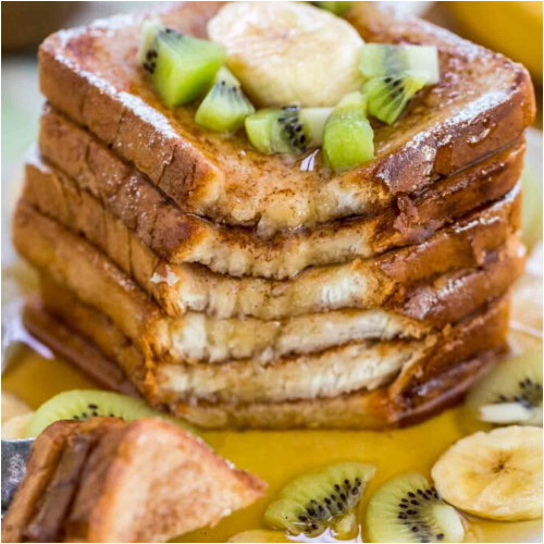 Pain Perdu - With Kiwi & Banana Slices