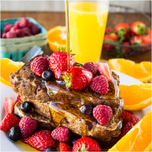 Pain Perdu - With Mixed Berries, Maple Syrup & Orange Juice