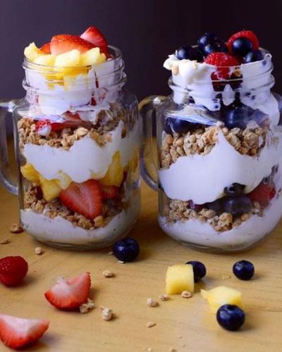 Parfaits - Pineapples & Mixed Berries